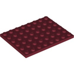 Dark Red Plate 6 x 8 - new