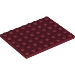 Dark Red Plate 6 x 8