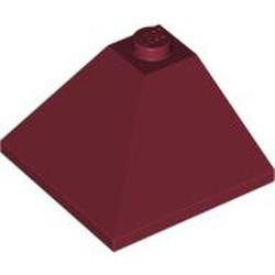 Dark Red Slope 33 3 x 3 Double Convex Corner - used