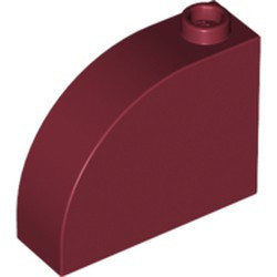 Dark Red Slope, Curved 3 x 1 x 2 with Stud - new