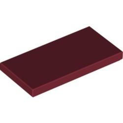 Dark Red Tile 2 x 4 - new