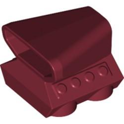 Dark Red Vehicle, Air Scoop Engine Top 2 x 2