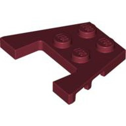 Dark Red Wedge, Plate 3 x 4 with Stud Notches