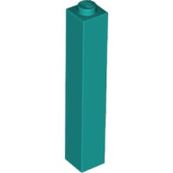 Dark Turquoise Brick 1 x 1 x 5 - Solid Stud - new