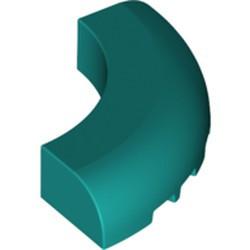 Dark Turquoise Brick, Round Corner 5 x 5 x 1 without Studs - new