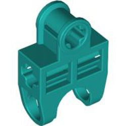 Dark Turquoise Technic, Axle Connector 2 x 3 with Ball Joint Socket, Open Sides