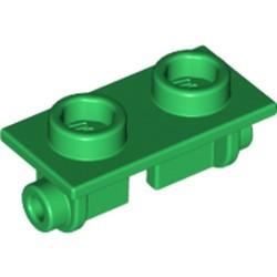 Green Hinge Brick 1 x 2 Top Plate