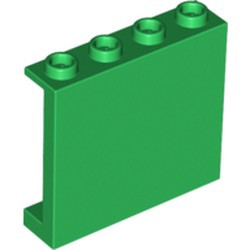 Green Panel 1 x 4 x 3 with Side Supports - Hollow Studs - used