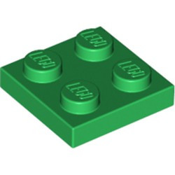 Green Plate 2 x 2 - used