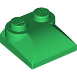 Green Slope, Curved 2 x 2 x 2/3 with Two Studs and Curved Sides
