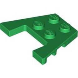Green Wedge, Plate 3 x 4 with Stud Notches