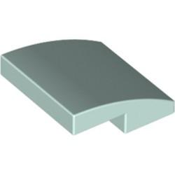 Light Aqua Slope, Curved 2 x 2 - new