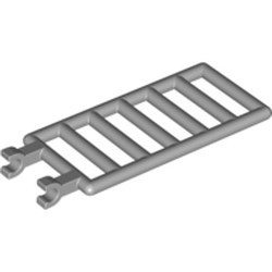 Light Bluish Gray Bar 7 x 3 with Double Clips (Ladder) - used