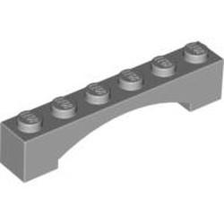 Light Bluish Gray Brick, Arch 1 x 6 Raised Arch - new