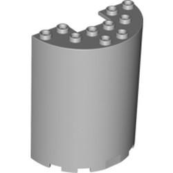 Light Bluish Gray Cylinder Half 3 x 6 x 6 with 1 x 2 Cutout - new