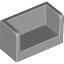 Light Bluish Gray Panel 1 x 2 x 1 with Rounded Corners and 2 Sides