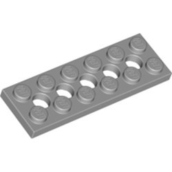 Light Bluish Gray Technic, Plate 2 x 6 with 5 Holes - used