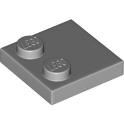 Light Bluish Gray Tile, Modified 2 x 2 with Studs on Edge