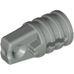 Light Gray Hinge Cylinder 1 x 2 Locking with 1 Finger and Axle Hole on Ends with Slots - used