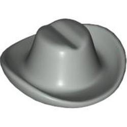Light Gray Minifigure, Headgear Hat, Cowboy