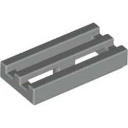 Light Gray Tile, Modified 1 x 2 Grille with Bottom Groove / Lip