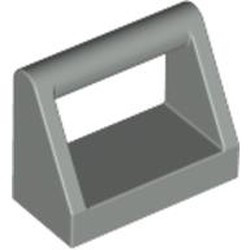 Light Gray Tile, Modified 1 x 2 with Bar Handle - used