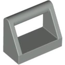 Light Gray Tile, Modified 1 x 2 with Bar Handle