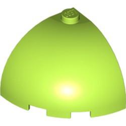 Lime Brick, Round Corner 3 x 3 x 2 Dome Top