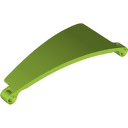 Lime Technic, Panel Curved #51 5 x 13 Tapered Right - new
