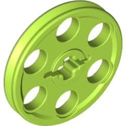 Lime Technic Wedge Belt Wheel (Pulley) - used