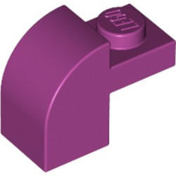 Magenta Slope, Curved 2 x 1 x 1 1/3 with Recessed Stud