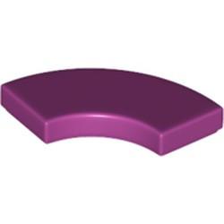 Magenta Tile, Round Corner 2 x 2 Macaroni