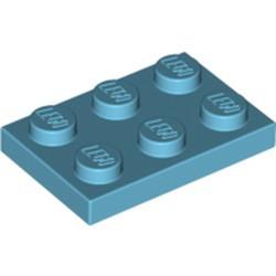 Medium Azure Plate 2 x 3 - used