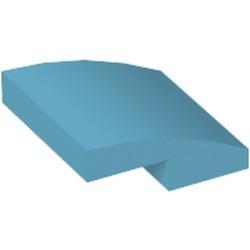 Medium Azure Slope, Curved 2 x 2 - used