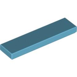Medium Azure Tile 1 x 4 - used