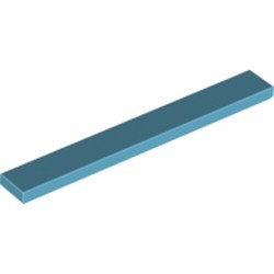 Medium Azure Tile 1 x 8 - new