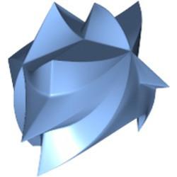Medium Blue Minifigure, Hair Angular Swept Sideways - used