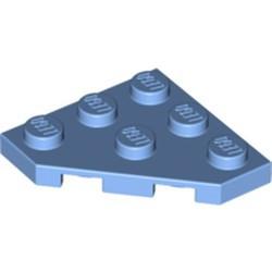 Medium Blue Wedge, Plate 3 x 3 Cut Corner - new