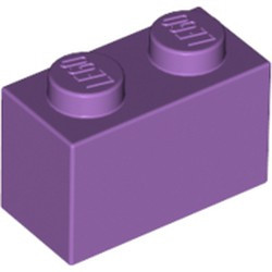 Medium Lavender Brick 1 x 2 - new