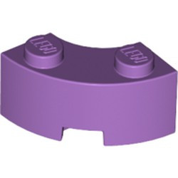 Medium Lavender Brick, Round Corner 2 x 2 Macaroni with Stud Notch and Reinforced Underside - new