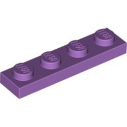 Medium Lavender Plate 1 x 4 - used