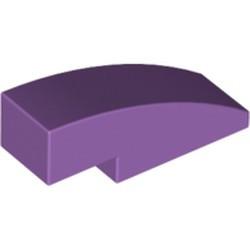 Medium Lavender Slope, Curved 3 x 1