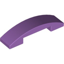 Medium Lavender Slope, Curved 4 x 1 Double - new