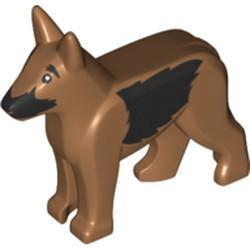 Medium Nougat Dog, Alsatian / German Shepherd with Black Eyes, Nose, Muzzle and Sides Pattern - new