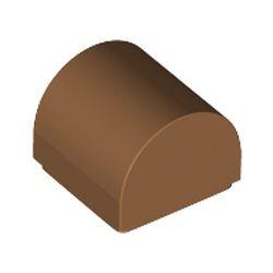 Medium Nougat Slope, Curved 1 x 1 Double