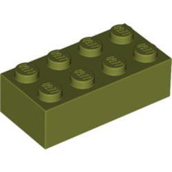 Olive Green Brick 2 x 4