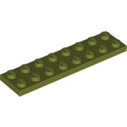 Olive Green Plate 2 x 8 - new
