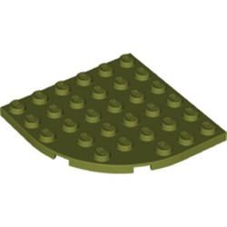 Olive Green Plate, Round Corner 6 x 6 - new
