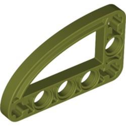 Olive Green Technic, Liftarm, Modified L-Shape Quarter Ellipse Thin 3 x 5