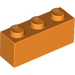 Orange Brick 1 x 3 - new